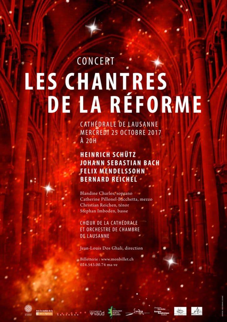 Les Chantres de la Réforme, Concert du 25 octobre 2017